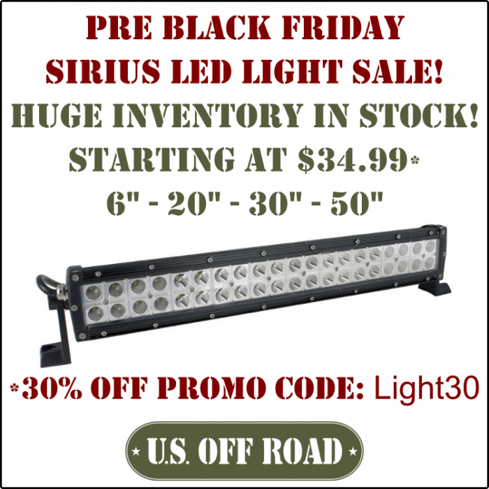 pre black friday sale sirius led light bars tacoma forum toyota truck fans. Black Bedroom Furniture Sets. Home Design Ideas