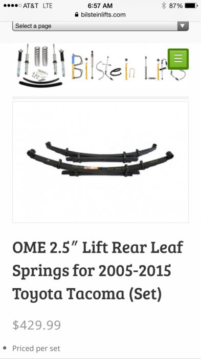 Tacoma leaf spring recall | Tacoma Forum - Toyota Truck Fans