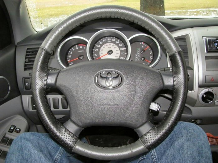 steering wheel covers tacoma forum toyota truck fans. Black Bedroom Furniture Sets. Home Design Ideas